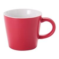 広口カラーマグカップ 380ml(レッド)