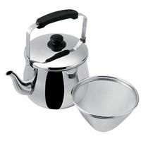 ステンレス製 広口ケトル 茶こし付 5.0L HA4859