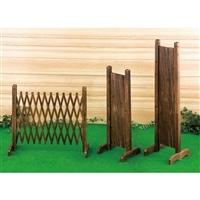 伸縮フェンス 焼杉 150×70cm