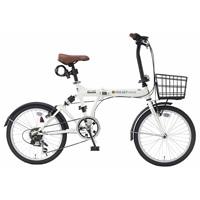 【自転車】《池商》SC-07 PLUS 折畳自転車 20インチ 6段変速 オールインワン アイボリー