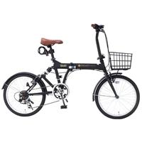 【自転車】《池商》SC-07 PLUS 折畳自転車 20インチ 6段変速 オールインワン マットブラック