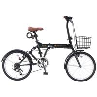 【自転車】《池商》SC-07 PLUS 折畳自転車 20インチ 6段変速 オールインワン ダークグリーン