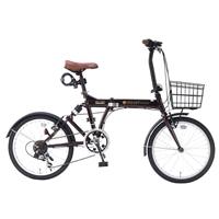 【自転車】《池商》SC-07 PLUS 折畳自転車 20インチ 6段変速 オールインワン エボニーブラウン