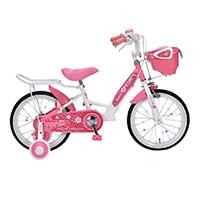 【自転車】《池商》MD-12 子供用自転車16・補助輪付 ピンク