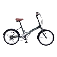 【自転車】折畳自転車20インチ6段ギア付グリーン【別送品】