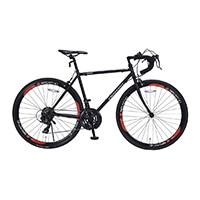 【店舗限定】【自転車】《池商》ロードバイク 700C 21段ギア付 MR7001-BRD ブラックレッド