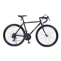 【店舗限定】【自転車】《池商》ロードバイク 700C 21段ギア付 MR7001-BBL ブラックブルー