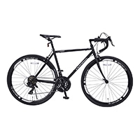 【店舗限定】【自転車】《池商》ロードバイク 700C 21段ギア付 MR7001-BGY ブラックグレー