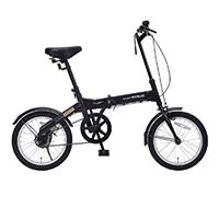【自転車】《池商》M-100 折畳自転車16インチ ブラック BK