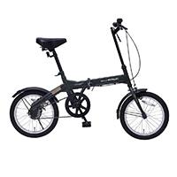 【自転車】《池商》M-100 折畳自転車16インチ グリーン GR