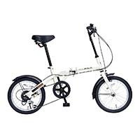 【自転車】《池商》M-103 折畳自転車16インチ・6SP アイボリー