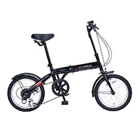 【自転車】《池商》M-103 折畳自転車16インチ・6SP ブラック