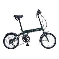 【自転車】《池商》M-103 折畳自転車16インチ・6SP ダークグリーン