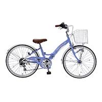 【自転車】《池商》M-802F 子供用自転車22・6SP・オートライト ラベンダーブルー
