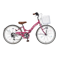 【自転車】《池商》M-802F 子供用自転車22・6SP・オートライト ローズピンク