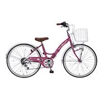 【自転車】《池商》M-804F 子供用自転車24・6SP・オートライト ローズピンク