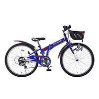 【自転車】《池商》M-824F 折畳ジュニアMTB24・6SP・CIデッキ ブルー
