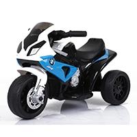 池商 こども用電動乗用3輪バイク BMW S1000RR ブルー【別送品】