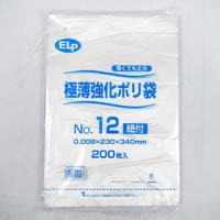 ELP極薄ポリ袋ヒモ付 No.12 200P