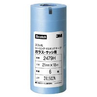 3M スコッチ シーリング・マスキングテープ (ガラス・サッシ用) 21mm×18m 6巻入