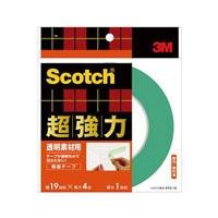 3M スコッチ(R) 超強力両面テープ 透明素材用 19 4STD-19