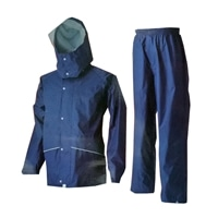 透湿レインスーツ 上下セット ブルー 3L