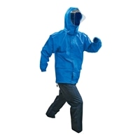 GB-01 透湿レインスーツ ブルー M