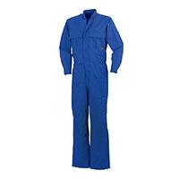 綿ジャバラつなぎ ブルー LL 49056