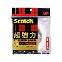 3M スコッチ(R) 超強力両面テープ プレミアゴールド(スーパー多用途) 12 4SPS-12