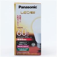 パナソニック LED電球 広配光60形(電球色) LDA8LGK60ESW
