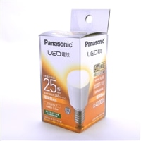 パナソニック LED電球 小形電球 下方向タイプ 2.6W 2個入(電球色相当) LDA3LHE17EW