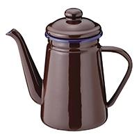 ホーローコーヒーポット 1.1L ブラウン