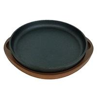 鉄鋳物製ステーキ皿 丸型 20cm HB-3056