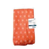 【数量限定】座布団カバー麻の葉 オレンジ 55x59