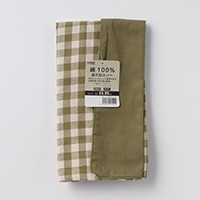 綿100%座布団カバーチェック グリーン 55x59