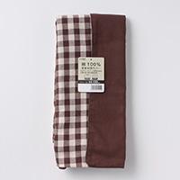 綿100%長座布団カバーチェックブラウン68x120