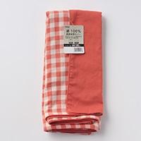 綿100%長座布団カバーチェックOR68x120