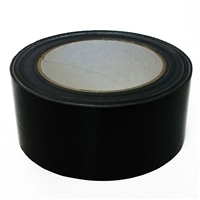 カラー布粘着テープ 幅50mm×25m クロ
