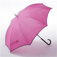 【数量限定】風に強い シームレス ジャンプ傘 60cm ピンク