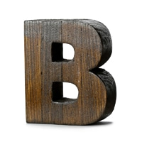 "【trv・数量限定】WOOD DECO ALPHABET ""B"""