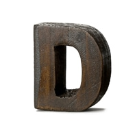 "【trv】WOOD DECO ALPHABET ""D"""