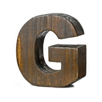 "【trv】WOOD DECO ALPHABET ""G"""