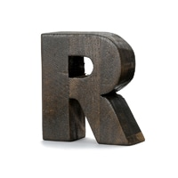 "【trv・数量限定】WOOD DECO ALPHABET ""R"""