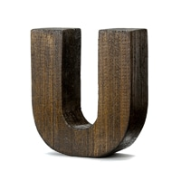 "【trv・数量限定】WOOD DECO ALPHABET ""U"""