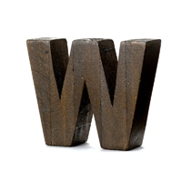 "【trv・数量限定】WOOD DECO ALPHABET ""W"""