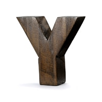 "【trv】WOOD DECO ALPHABET ""Y"""