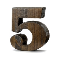 【trv・数量限定】WOOD DECO NUMBER 5