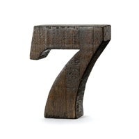 【trv・数量限定】WOOD DECO NUMBER 7