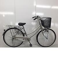 【自転車】【全国配送】軽快車 26インチ シルバー【別送品】