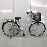 【自転車】【全国配送】軽快車 26インチ ホワイト【別送品】